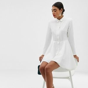 NWOT Unique21 White Shirtdress, size UK 10/ US 6